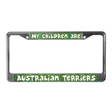 My Children Australian Terrier License Plate Frame