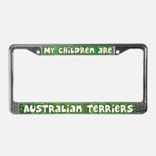 My Children Australian Terrier License Plate Frame