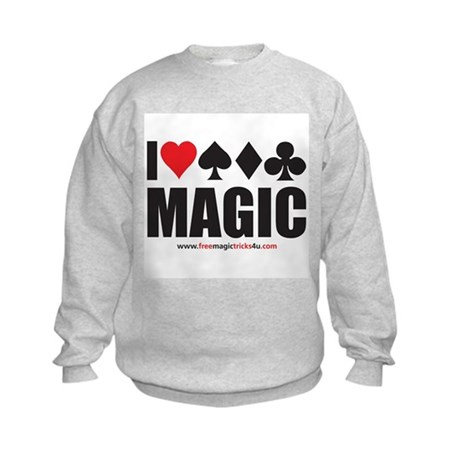 I Love Magic Kids Sweatshirt