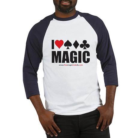 I Love Magic Baseball Jersey