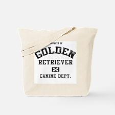 Canine Dept.- Golden Retrieve Tote Bag