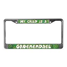 My Kid Groenendael License Plate Frame