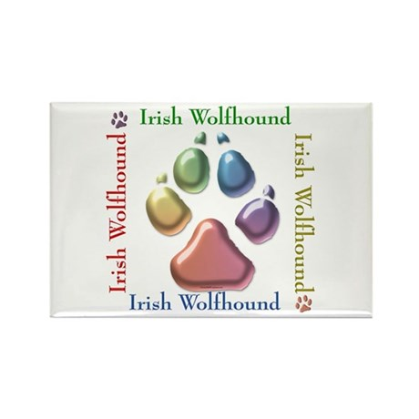 Wolfhound Name2 Rectangle Magnet