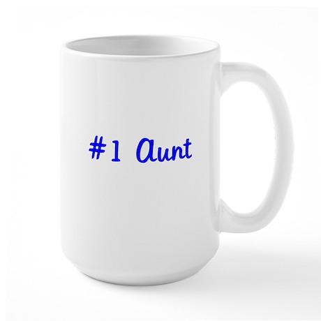 #1 Aunt Large Mug