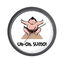 Uh Oh Sumo Wall Clock