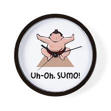 Uh Oh Sumo Wall Clock