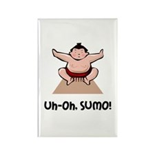 Uh Oh Sumo Rectangle Magnet (10 pack)