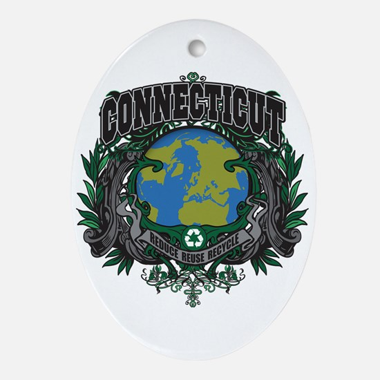 Connecticut Green Pride Oval Ornament