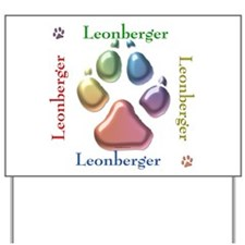 Leonberger Name2 Yard Sign