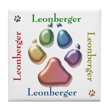 Leonberger Name2 Tile Coaster