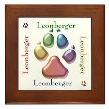 Leonberger Name2 Framed Tile