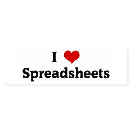 I Love Spreadsheets Bumper Sticker