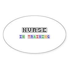 Nurse In Training Oval Decal