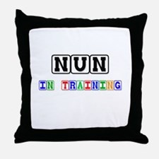 Nun In Training Throw Pillow