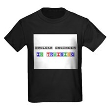 Nuclear Engineer In Training Kids Dark T-Shirt