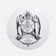 Faith, Hope and Charity Ornament (Round)