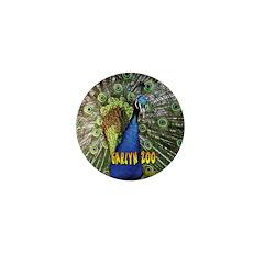 Peacock Mini Button (10 pack)