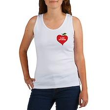 Heart Apple I Love 1st Grade Women's Tank Top