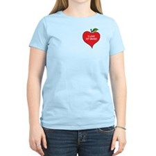 Heart Apple I Love 1st Grade T-Shirt