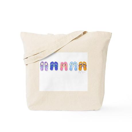 5 Pairs of Flip-Flops Tote Bag