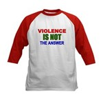 Violence is Not the Answer Kids Baseball Jersey