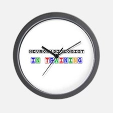 Neuroradiologist In Training Wall Clock