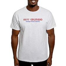 Strong, Proud, Faithful - Navy Girlfriend T-Shirt