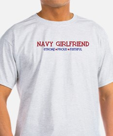 Strong, Proud, Faithful - Navy Girlfriend T-Shirt