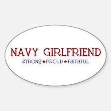 Strong, Proud, Faithful - Navy Girlfriend Decal