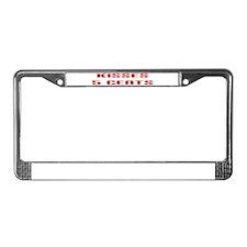 Kisses License Plate Frame