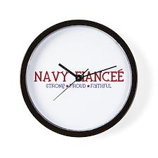 Strong, Proud, Faithful - Navy Fiancee Wall Clock