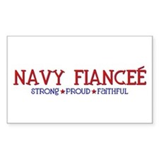 Strong, Proud, Faithful - Navy Fiancee Decal