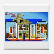 Ohio OH Tile Coaster