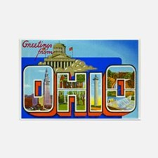 Ohio OH Rectangle Magnet