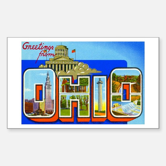 Ohio OH Rectangle Decal