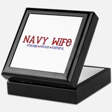 Strong, Proud, Faithful - Navy Wife Keepsake Box