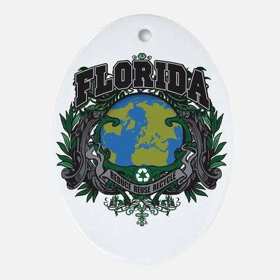 Florida Green Pride Oval Ornament