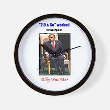 Funny Bush Wall Clock