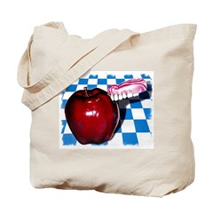 The Apple that Bit Back! Tote Bag