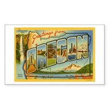 Oregon OR Rectangle Decal