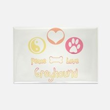 Greyhound Peace2 Rectangle Magnet