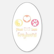 Greyhound Peace2 Oval Decal