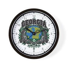 Georgia Green Pride Wall Clock