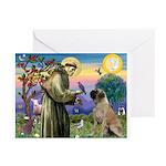 St Francis / Bullmastiff Greeting Cards (Pk of 20)