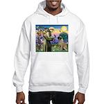 St Francis / Bullmastiff Hooded Sweatshirt