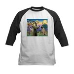 St Francis / Bullmastiff Kids Baseball Jersey