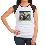 St Francis / Bullmastiff Women's Cap Sleeve T-Shir