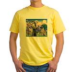 St Francis / Bullmastiff Yellow T-Shirt