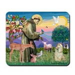 St Francis / Cocker (buff) Mousepad