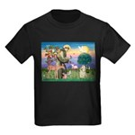 St Francis / Cocker (buff) Kids Dark T-Shirt